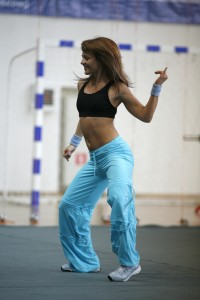 Fit woman dancing